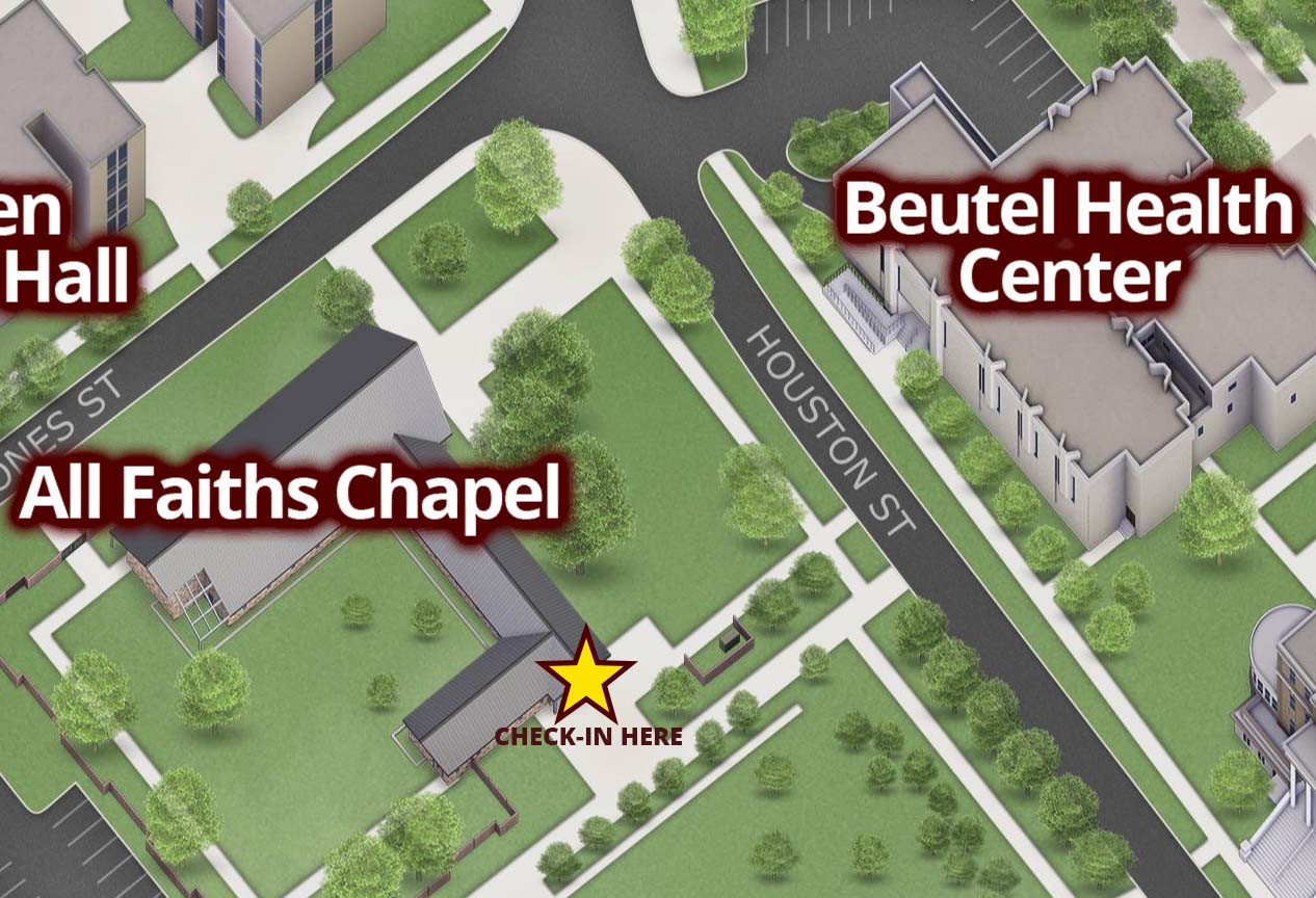 Chapel Location - Check-In on south side of building